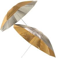 METTLE 2-in-1 Studioschirm, Reflexschirm silber-gold, Ø 145 cm