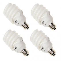4x METTLE Leuchtmittel Tageslicht-Lampe 32 Watt 5500°K E27 Fotolampe