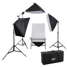 LIFE of PHOTO Aufnahmetisch-Set LED-5070-4, 4x60 W LED mit Studiotasche