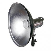 METTLE Beauty Dish silber 42 cm mit BRONCOLOR PULSO-Adapter