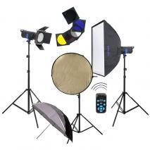 METTLE Studioblitz-Set INFINITY 600 (2x 300 WS)