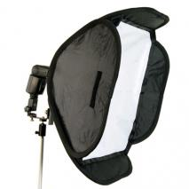 METTLE  Systemblitz-Softbox Set 40x40 cm mit Kugelkopf