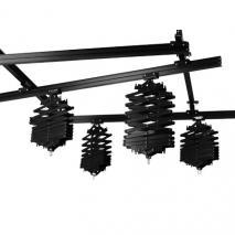 METTLE Deckenschienen-System 3x3 m mit 4 Scheren