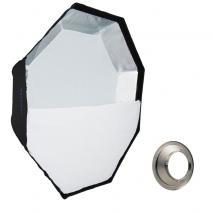 METTLE Easy-Setup Octagon Softbox, Ø 90 cm für MULTIBLITZ P