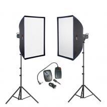 METTLE Studioset EASYSTUDIO 2600 (2x 300 WS) Studioblitz-Set Studioblitzanlage