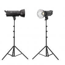 METTLE LED Studioset EL 2000 N, 2x 100 W Fotostudio Beleuchtung Set