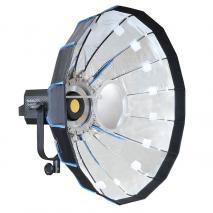 NANLITE LED Studioleuchte FORZA 300 mit Mobile Beauty Dish 60 cm silber