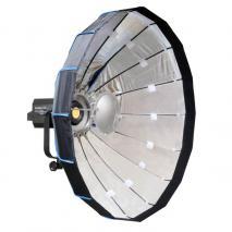 NANLITE LED Studioleuchte FORZA 500 mit Mobile Beauty Dish 80 cm silber