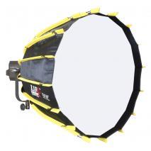 NANLITE LED Studioleuchte FORZA 300 mit Parabol-Softbox Ø 70 cm und Grid