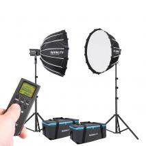 NANLITE LED-Studioset FORZA SB-1200 Wireless Fotostudio Beleuchtung Set