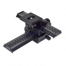 METTLE 4-Wege Einstellschlitten, Makro-Kreuzschlitten Verstellweg 10 cm