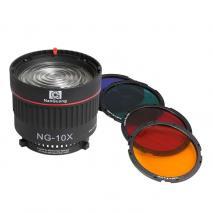 NANLITE / NANGUANG Fresnel Linse NG-10x stufenlos 10-40° Spot für Bowens