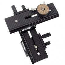 FOTOMATE Makro-Set mit 2D-Kreuzschlitten und Schnellwechselsystem