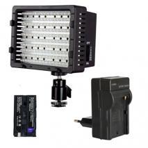 LED-Videoleuchte SET CN-170-S mit Li-Ion Akku & Ladegerät