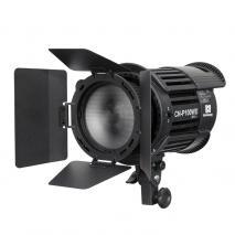 NANGUANG LED-Studioleuchte CN-P100 WII mit Fresnel-Vorsatz und Lichtklappen