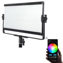 METTLE RGB Multi Color Studioleuchte SMART PANEL SPL 420C mit Softbox, App