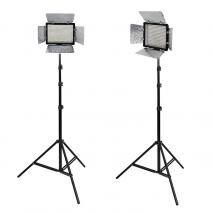 METTLE LED-Videoleuchten Set VL-2000