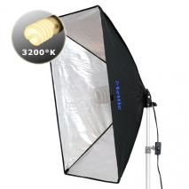 METTLE Tungsten Light Kit 85 (Kunstlicht 3200°K) mit Softbox 50x70 cm