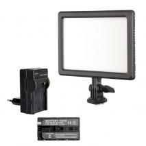 NANLITE Bi-COLOR LED Videoleuchte SET LUMIPAD 11 mit Li-Ion Akku + Ladegerät