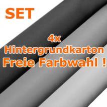 4er-Set Papierhintergrund, Hintergrundkarton 1,35 x 11m