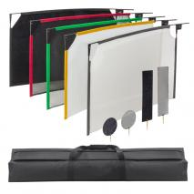 LIFE of PHOTO 5-in-1 Fotostudio Reflektor Abschatter-Set 60x90 cm