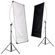 METTLE 2-in-1 Reflektorpanel schwarz-weiß 90x180 cm