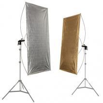 METTLE Reflektorpanel gold & silber 90x180 cm