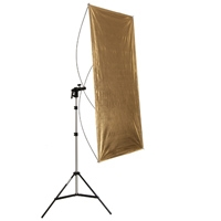 METTLE Reflektor-Set: Panel gold-silber 60x120 cm mit Stativ