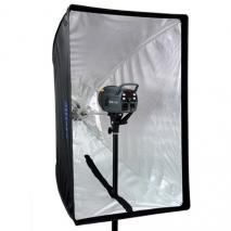 METTLE Reflexschirm-Softbox 60x90 cm für Systemblitz, Studioblitz & Dauerlicht