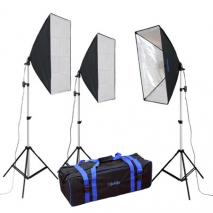 METTLE Studioset PILOT DAYLIGHT 385 (5500°K) mit Softboxen 50x70 cm