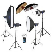 METTLE Studioset PROSTUDIO 4600 XL Studioblitz-Set Studioblitzanlage