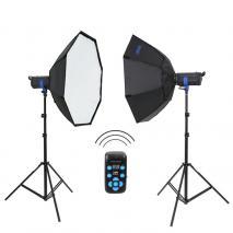 METTLE Studioset TORINO 600 (2x 300 WS)