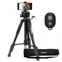 METTLE Mobile-Set: Smartphone-, Handy-Halterung + Videostativ + Fernauslöser
