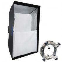METTLE Standard-Softbox 80x120 cm mit UNIVERSAL-Adapter