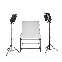 METTLE Studioset STORM LED 1200 mit Fototisch 200x100 cm