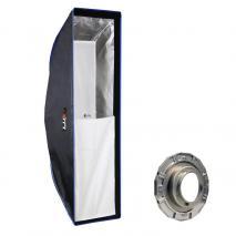 LIFE of PHOTO Easy Setup Striplight-Softbox 25x90 cm für BRONCOLOR PULSO