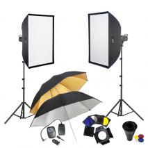 METTLE Studioset EASYSTUDIO 2800 (2x 300 WS) Studioblitz-Set Studioblitzanlage