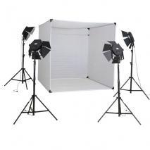 METTLE Studioset CUBE 800 mit XXL Foto-Lichtzelt, 28x30 W