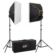 LIFE of PHOTO Daylight Studioset DS-5070-2, 8x150 W mit Studiotasche
