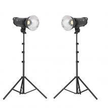 METTLE LED Studioset EL 2000 N, 2x 100 W