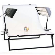 NANGUANG Studioset PORTLAND mit Fototisch 100x66 cm