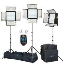 METTLE POWER LED-Studioset SEATTLE 600 Fotostudio Beleuchtung Set