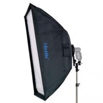 METTLE Systemblitz-Halter Set mit Softbox 60x90 cm
