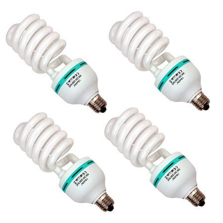 4x METTLE Kunstlicht-Lampe Leuchtmittel (Tungsten Light) 85 Watt, 3200°K