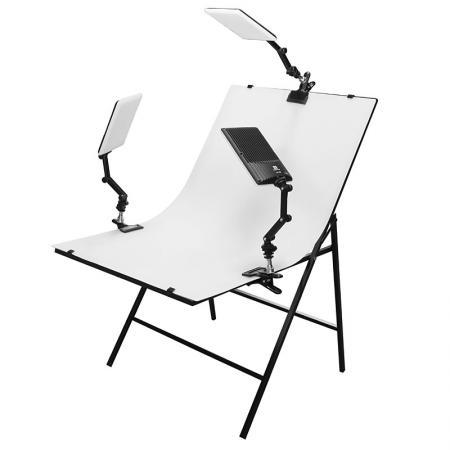 NANGUANG LED-Studioset VISTA 600 mit Fototisch 100x60 cm