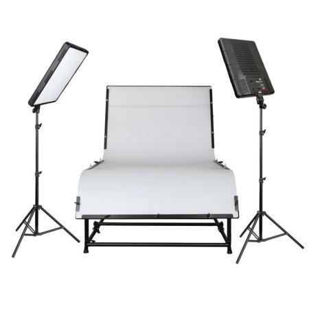 NANGUANG LED Studioset DAKOTA 200 mit Aufnahmetisch 240x130 cm