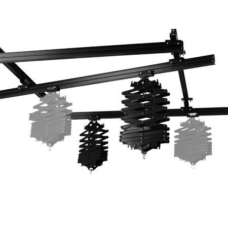 METTLE Deckenschienen-System 3x3 m mit 2 Scheren