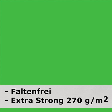 METTLE Faltenreduzierter Stoffhintergrund super strong, CHROMA KEY grün, 3x6 m