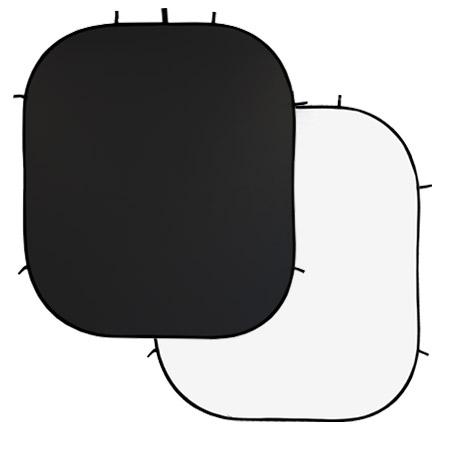LIFE of PHOTO 2-in-1 Falthintergrund 2,10x1,80 m, weiß-schwarz