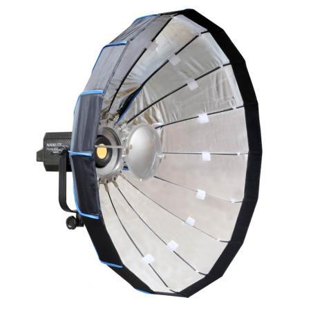 NANLITE LED Studioleuchte FORZA 300 mit Mobile Beauty Dish 80 cm silber